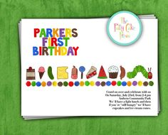 Very Hungry Caterpillar Birthday Party Invitation without photo