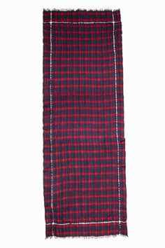 Foulard Plume Check, rouge, Zadig & Voltaire