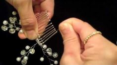 Video tutorial-beaded hair comb