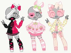 Outfit Adopt Set [Closed] by yuki-white Character Outfits, Character Art, Character Design, Cute Art Styles, Cartoon Art Styles, Kawaii Drawings, Cute Drawings, Mode Kawaii, Drawing Anime Clothes