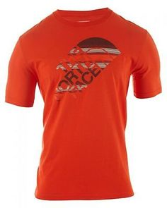 North Face Short Sleeve Ombre Stripe Tee Mens  T-Shirts CY80-N4P Orange SZ-M