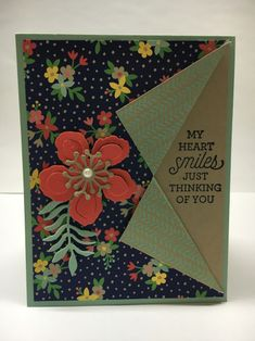handmade card ... fold back format ... Botanical Blooms ... photo tutorial by Jeanie Stark .. like it!