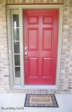 Cinnamon Cherry by Behr....I want a red front door.