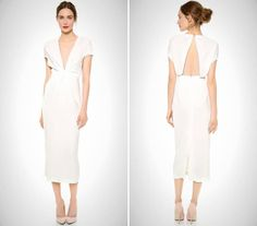 This modern frock is a great pick for the no-frills, minimalist bride. wedding dress minimalist chic 25 Non-Traditional Wedding Dresses for the Modern Bride Bridal Party Dresses, Wedding Dresses 2014, Wedding Bridesmaid Dresses, Wedding Dress Styles, Dress Wedding, Dress Party, Bridal Parties, Bridesmaid Ideas, Bride Dresses