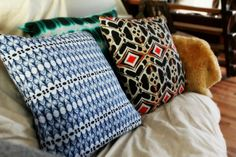 A little pillow talk. Sara Anderson   Textiles to delight and inspire.