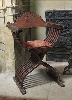 Folding Armchair  Date: late 15th or early 16th century Culture: Italian Medium: Walnut Dimensions: Overall: 37 x 26 in. (94 x 66 cm) Classification: Woodwork-Furniture Credit Line: The Cloisters Collection, 1937 Accession Number: 37.80.16