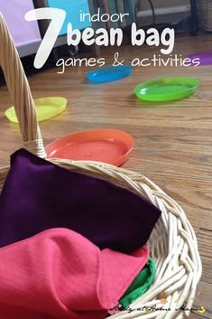 7 INDOOR BEAN BAG GAMES AND ACTIVITIES. Stay warm and cozy inside while still getting the kids moving and having gun with these educational and challenging bean bag games Gross Motor Activities, Movement Activities, Rainy Day Activities, Gross Motor Skills, Indoor Activities, Activity Games, Toddler Activities, Preschool Activities, Pe Games