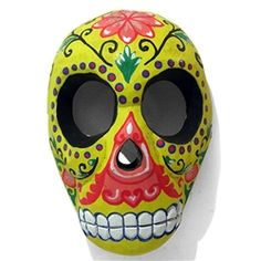 Candy Skull Mask - LiquoriceCandy Skull Mask - Custardde Muertos, the Mexican Day of the Dead Holiday.