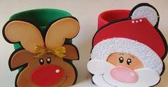 Risultati immagini per latas decoradas Christmas Makes, Noel Christmas, Beautiful Christmas, Christmas Crafts, Christmas Decorations, Christmas Ornaments, Holiday Decor, Reindeer Decorations, Foam Crafts