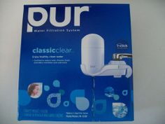 NEW PUR FM-3333B Classic White Water Filtration System w/ Filter 1 Click Install
