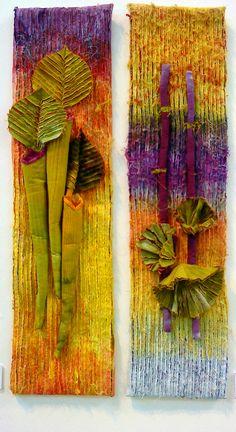 by Ann Small - Fibre Arts Australia - slash / chenille?