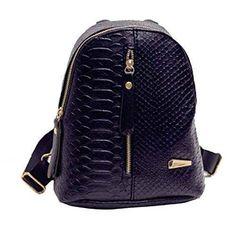 Oferta: 8.85€. Comprar Ofertas de Toraway mujeres mochilas de cuero simples mochilas decoración retro cremallera del recorrido del bolso de hombro (Negro) barato. ¡Mira las ofertas!