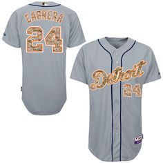 Miguel Cabrera Detroit Tigers Majestic USMC Player Authentic Jersey - Gray - $318.99