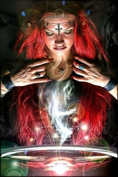 The spell is cast `™` . Wicca Witchcraft, Wiccan, Fantasy World, Fantasy Art, Pagan Art, Wattpad, Ink Illustrations, Magical Creatures, Picture Design