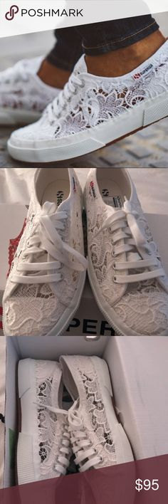 Superga Macrame Sneakers NIB Perfect shoes for any occasion. Extremely comfortable and so chic! NIB. No trades Superga Shoes Sneakers