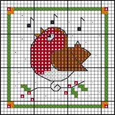 Adorno de Navidad - gráfico de robin