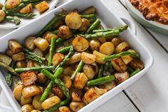 Recipe: Balsamic Roasted New Potatoes with Asparagus #asparagus #recipe #vegan #vegetarian #sidedish
