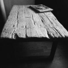 Furniture, table, mesa rústica, madera vieja más hierro, lignarius Barcelona