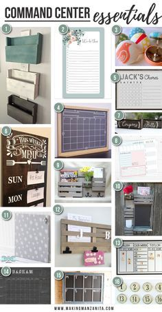 A command center is an excellent way to set up home systems. Get organized for Back to School with these command center essentials from Etsy.