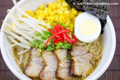 Homemade Chashu Miso Ramen Looks soooooo yummy Ramen Recipes, Noodle Recipes, Asian Recipes, Cooking Recipes, Asian Foods, Noodle Soups, Bento Recipes, Easy Japanese Recipes, Japanese Dishes