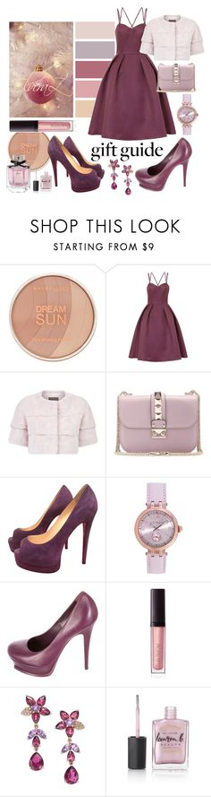 """""""gift guide"""" by elza76 ❤ liked on Polyvore featuring Maybelline, Chi Chi, Lilly e Violetta, Valentino, Christian Louboutin, Ted Baker, Yves Saint Laurent, Laura Mercier, Effy Jewelry and Lauren B. Beauty"""