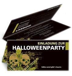 Vorgefertigte Einladungskarten von www.onlineprintxxl.com für Halloween. #einladungskarten #einladungskartegestalten #einladungskartekaufen