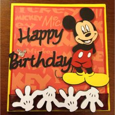 My first Disney card mickey mouse for a little boys birthday you can never go wrong with mm