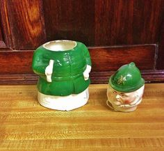 Where can you buy an ANTIQUE VICTORIAN STAFFORDSHIRE POLICEMAN TOBACCO JAR? Here and this PORTLY feller is super-cute. This porcelain figural has a button-poppin' green coat and a green hat, and the most wonderful lamb-chop side whiskers! His face is nicely painted and it looks like he's carrying a baton and a bell. His head comes off and he would be perfect for cotton balls.  https://www.etsy.com/listing/227003308 $65.95