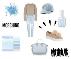 """""""ezzie"""" by malinsoderman ❤ liked on Polyvore featuring Topshop, My Mum Made It, Essie, SO, Old Navy, Steve Madden, Moschino and Givenchy"""
