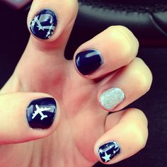 Air Force nails ! Ready to go see John graduate !! #USAF #nails #airforce #girlfriend