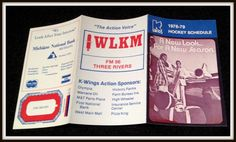 1978-79 KALAZAMOO WINGS WLKM FM HOCKEY POCKET SCHEDULE EX+NM CONDITION FREE SHIP #Pocket #PocketSchedules