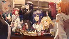 matsuura_kanan ohara_mari sakurauchi_riko takami_chika tsushima_yoshiko watanabe_you Anime Best Friends, Friend Anime, Dia Kurosawa, Ruby Kurosawa, Mari Ohara, Anime Friendship, Anime Group, Girls Frontline, Love Live