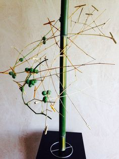 Bamboo with mini bamboo hammers and diplocyclos palmatus Rita Nagelkerke