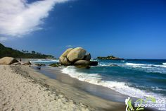 Arrecifes Beach in Tayrona National Park. Whilst you can´t swim at this beach due to strong undercurrents, you can admire the magnificent boulders dotted along the beach.