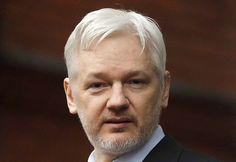 """WikiLeaks founder Julian Assange on Wednesday accused """"the American liberal…"""