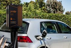 Here is another charging station with WiFi connectivity for EV owners. The JuiceBox Pro 40 Electric Car Charger with JuiceNet works with Alexa. Ev Charger, Electric Car Charger, Electric Cars, Works With Alexa, Technology Gadgets, Wifi, House Shutters, The Unit, Prompt