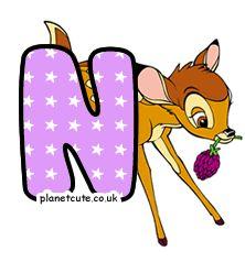 Planet Cute - Alphabet - Bambi - Image Bambi, Disney Letters, Cute Alphabet, Letters And Numbers, Disney Characters, Fictional Characters, Image, Art, Friends