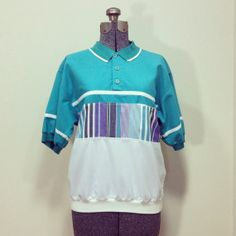 Mens Vintage 80s Towncraft Polo Shirt S by BeatificVintage on Etsy, $16.00