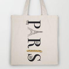 PARIS Tote Bag by R.Boongiovani | Society 6