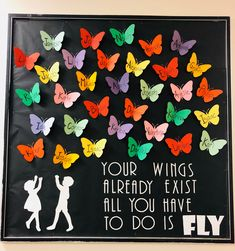 School Door Ideas For Spring Bulletin Board Display Ideas For 2019 Spring Bulletin Boards, Back To School Bulletin Boards, Preschool Bulletin Boards, Classroom Bulletin Boards, Kindness Bulletin Board, April Bulletin Board Ideas, Bulletin Board Ideas For Teachers, Butterfly Bulletin Board, Display Boards For School