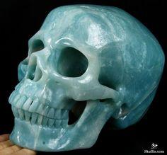 Chinese Amazonite Crystal Skull