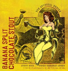 Banana Split Chocolate Stout, brewed by Thomas Creek Brewery in Greenville, SC