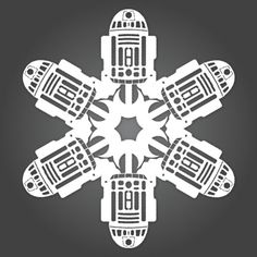 DIY Star Wars snowflakes.