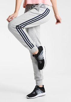 adidas Performance Pantalón de deporte - mid grey heather/navy - Zalando.es