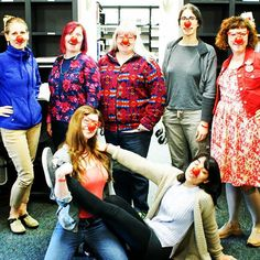 Library fun for Red Nose Day 2016. #rednose #rednoseday #oclibraries