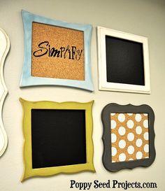 {so cute! love these organizational boards! #DIY}
