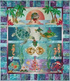 Patrón de McKenna Ryan Tropical Noel patrón por ThisOldFabricStore