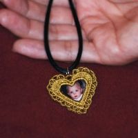 want Heart Locket and Pendants ( Free Standing Lace)