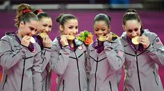 "Congratulations to the ""Golden Girls"" of the USA 2012 Olympic Gymnastics team! Fab Five!"