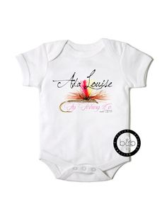 Fly Fishing Onesie - buy it now on Etsy $15.99   Personalize for free